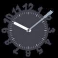 秒針付きアナログ時計ウィジェット