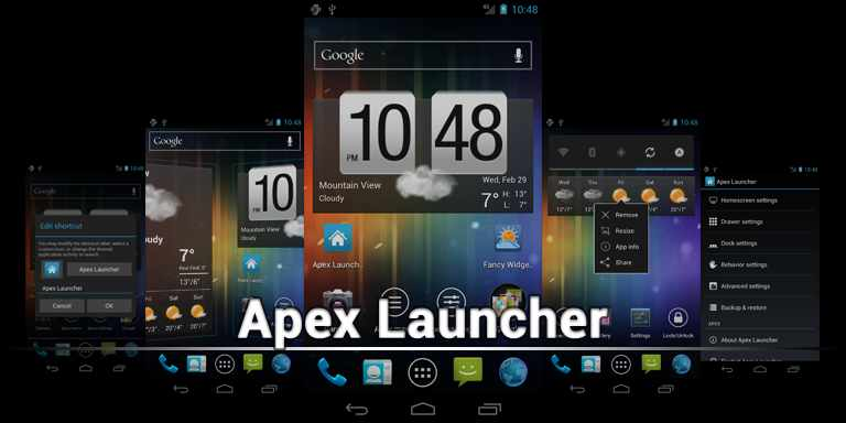 android-apex launcher