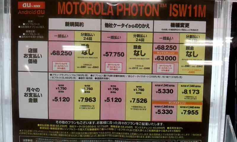 MOTOROLA PHOTON™ ISW11M