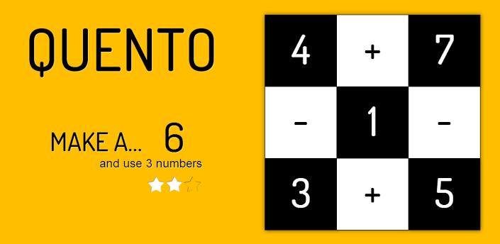 ゲーム「Quento」大人も子どもも没頭できる軽快な数学パズル #Android