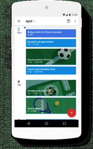 ファミリーグループ:Googleカレンダー