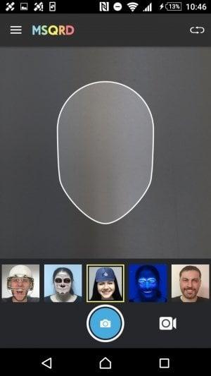 MSQRD Android カメラアプリ