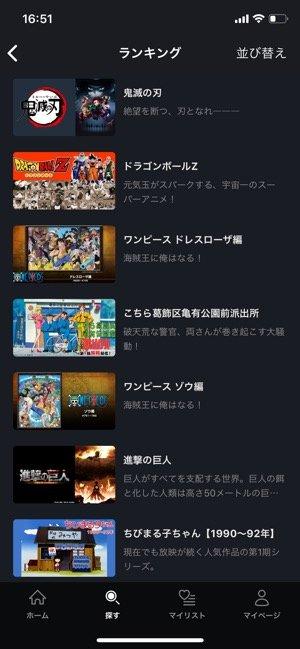 FODプレミアム アニメ