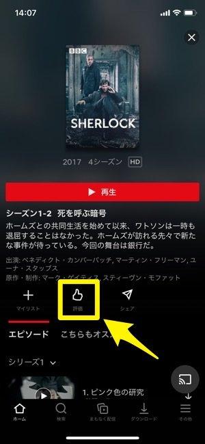 Netflix 作品詳細 評価