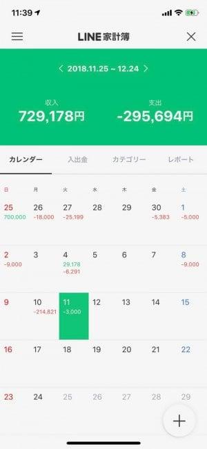 LINE家計簿