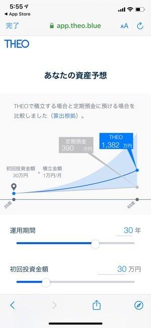 資産運用アプリ THEO