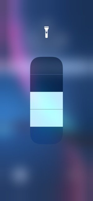 iPhone 懐中電灯 明るさ調節