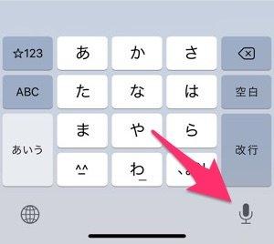 iPhone マイクボタン 非表示