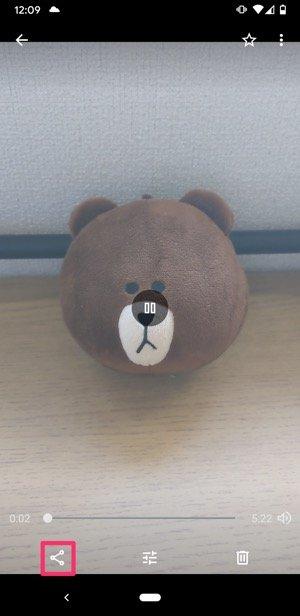 【LINE】Goolgeフォトで長い動画を送る(共有ボタンをタップ)