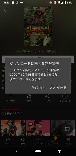 Netflix ダウンロードできない 回数制限