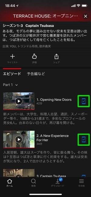Netflix:オフライン再生