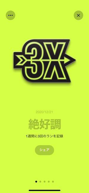 【Nike Run Club】トロフィー