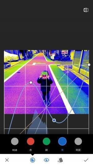Snapseed:カーブ機能