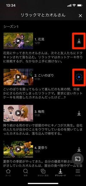 netflix ダウンロード 先