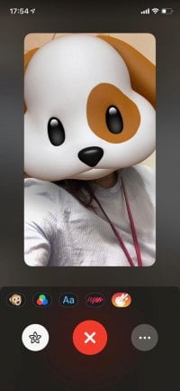 FaceTimeでアニ文字・ミー文字を使う