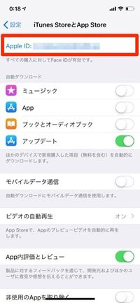 設定 iTunes StoreとApp Store