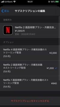 Netflix プランアップグレード