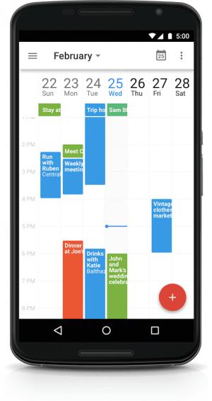 「Googleカレンダー」アプリ 週7日表示に対応
