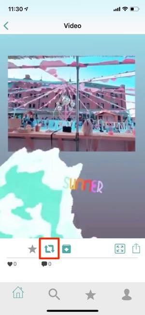 アプリ「PhotoAround」で、他人のストーリーを引用風に「リポスト」する