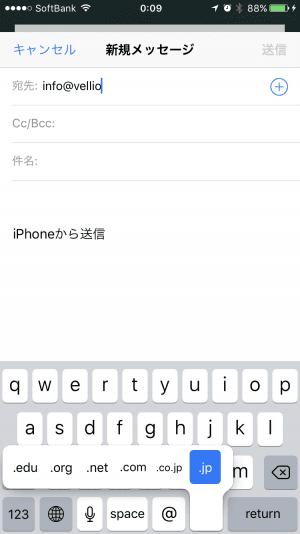iPhone:ドメイン名を入力