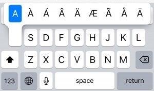 iPhone:特殊記号