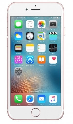 iPhone:ホーム画面