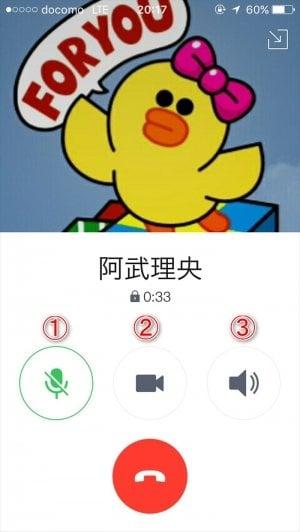 LINE 無料通話 ミュート