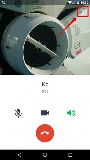 Android版LINE:無料通話からLINEの他の画面に移動する