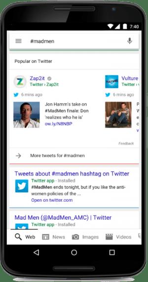 Twitter Google検索