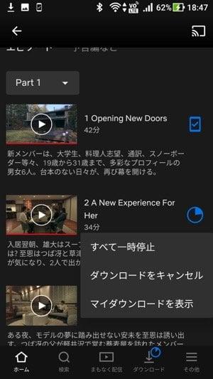 Netflix:ダウンロードボタン