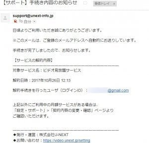 U-NEXT ユーネクスト 解約 退会