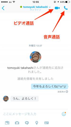 Skype 通話