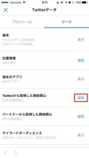 Twitter:Twitterデータ