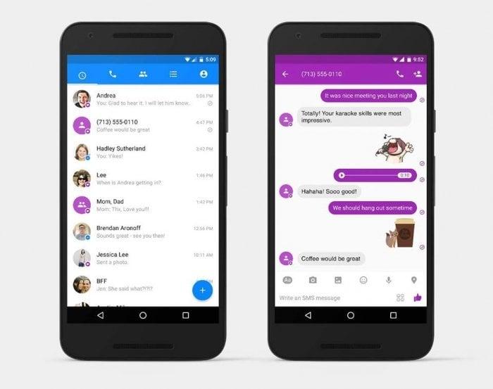 「Facebookメッセンジャー」アプリでSMSの送受信が可能に