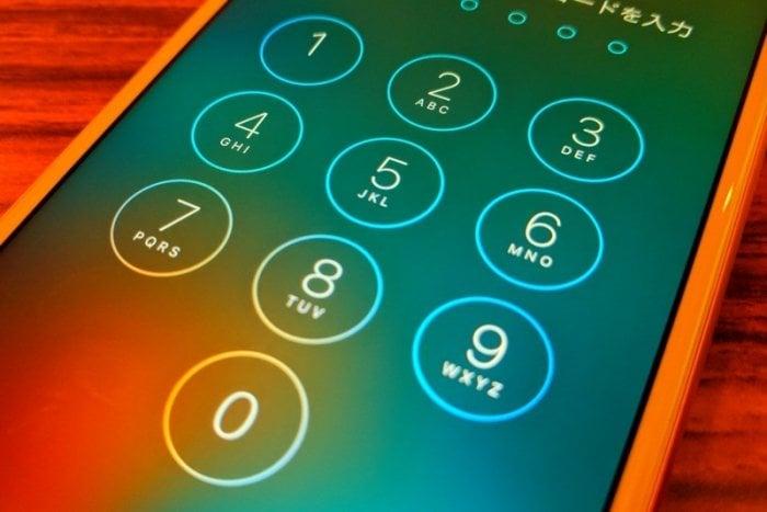 iPhone:パスコード