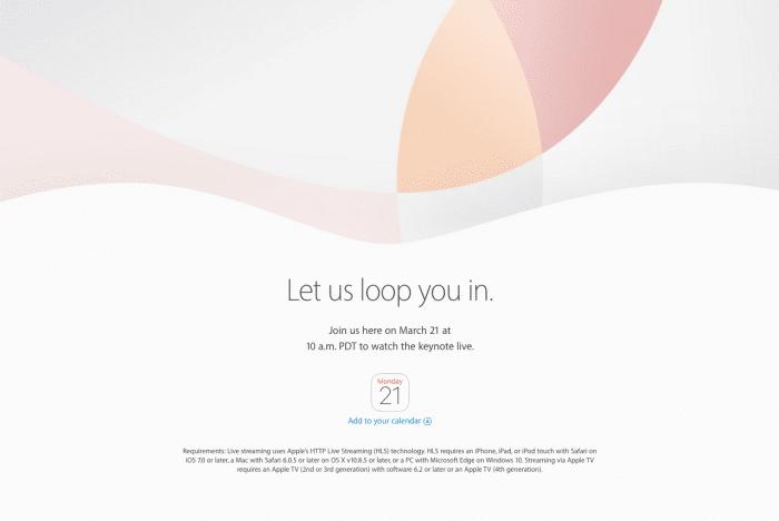 アップルが3月21日にイベント開催、iPhone SE・iPad Proを発表へ ライブ中継を視聴する方法