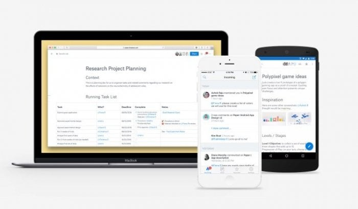 Dropbox、アプリ「Paper」をリリース チーム向けオンラインノートサービスがオープンベータに移行