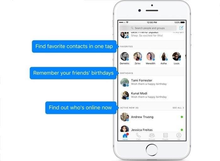 Facebookメッセンジャーのホーム画面が刷新、絵文字も大量追加