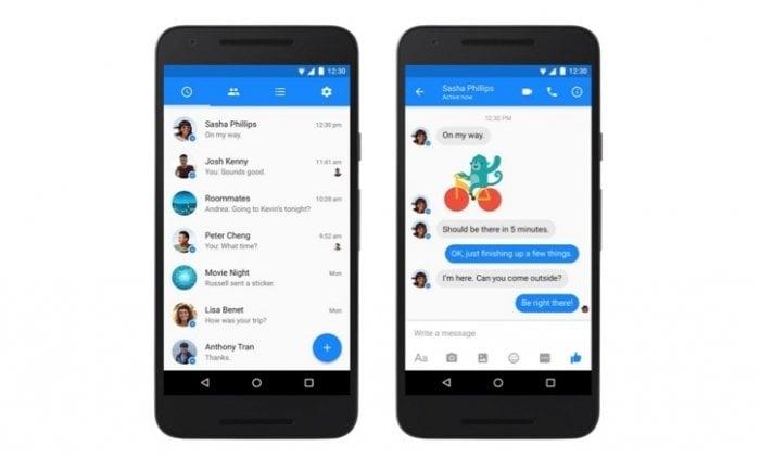 ちょっとカッコイイ、Android版「Facebook Messenger」がデザイン変更