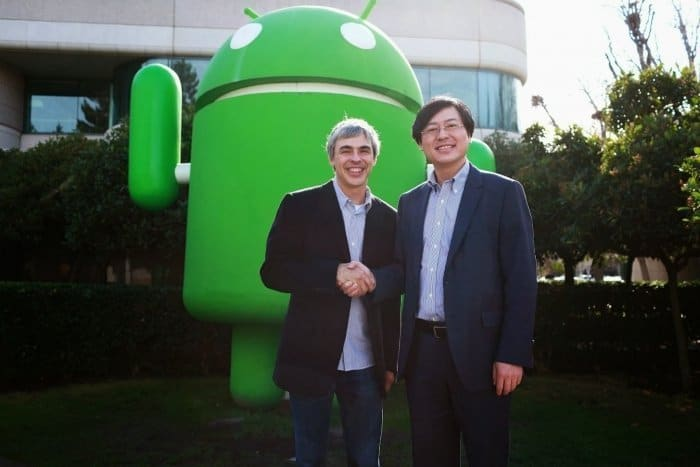 Photo of Larry Page, CEO of Google, and Yang Yuanqing, Chairman and CEO of Lenovo