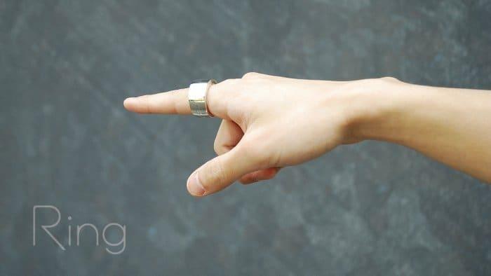 指輪型ウェアラブルデバイス「Ring」