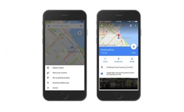 iOS版Googleマップ:駐車位置の保存機能