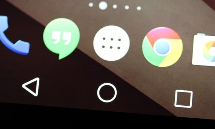 Android L ナビゲーションバー