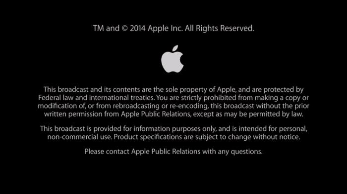 Apple - September Event 2014