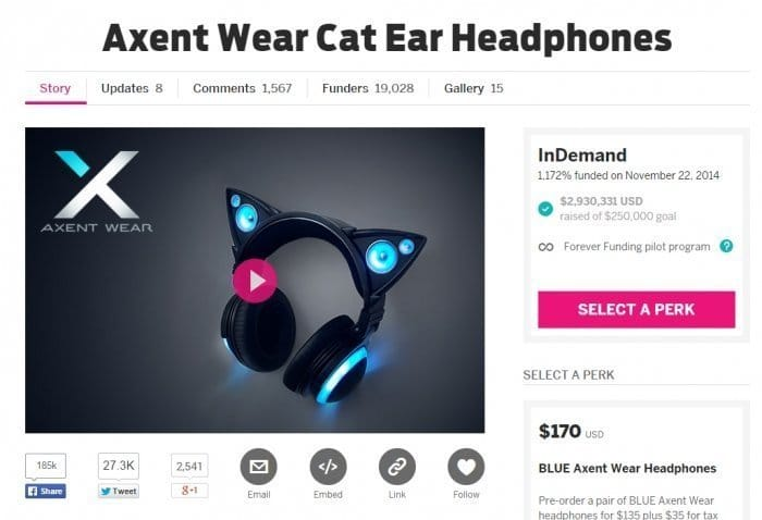 Axent Wear on Indiegogo
