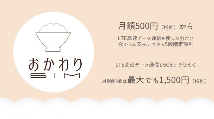 b-mobileおかわりSIM 5段階定額