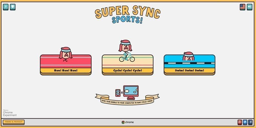 Super Sync Sports スタート画面