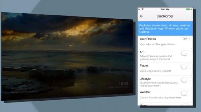 Chromecast Backdrop