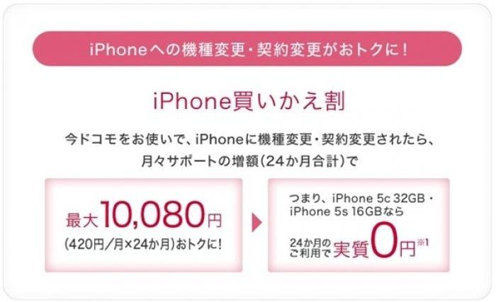iPhone買いかえ割