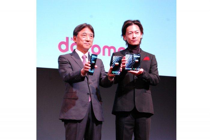 ドコモ5Gプレサービス発表会 吉澤和弘氏 佐藤健氏